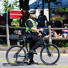 Police on bicycle at the New Boston 4th of July parade on Wednesday, 7-4-2018, New Boston, NH.  Matt Parker Photos