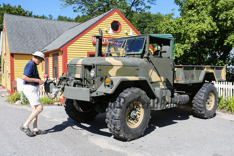 Army Truck at the New Boston 4th of July parade on Wednesday, 7-4-2018, New Boston, NH.  Matt Parker Photos