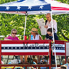 Reading of the Declaration of Independence at the New Boston 4th of July parade on Wednesday, 7-4-2018, New Boston, NH.  Matt Parker Photos