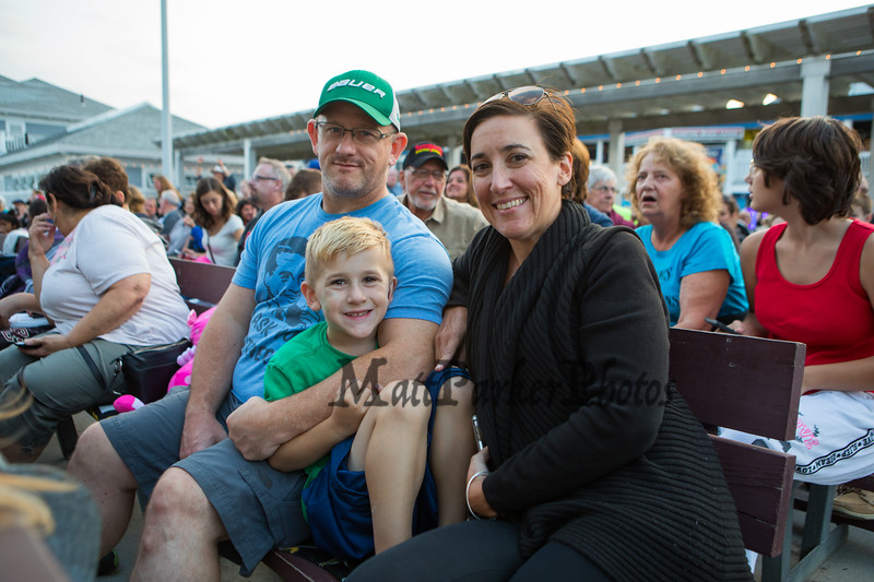 Melanie and Craig McCarthy with 1st grader Kody came to watch their daughter Valentine perform at the 14th Annual Hampton Beach Talent Competition 2018 on Sunday 8-26-2018 at the Seashell Stage Hampton Beach, NH.  Matt Parker Photos