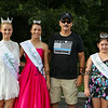 Rockingham Country Sheriff candidate Barry Newcomb of Hampton poses for a photo with Miss Hampton Beach queens (L to R) Miss HB Kirstin Pesaresi, JR Miss HB Samantha Lemay, and Little Miss HB Gabriella Rheaume at the Seabrook 250th Anniversary Parade on Saturday, 8-4-2018, Seabrook NH.  Matt Parker Photos