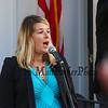 Sarah Hill sings the National Anthem at the American Legion Post 35 Global War On Terrorism Monument Rededication on Tuesday, 9-11-2018 @ Post 35, High Street, Hampton, NH.  Matt Parker Photos
