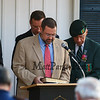 Pastor Tim Lewis of the New England Shores Baptist Church gives the Invocation at the American Legion Post 35 Global War On Terrorism Monument Rededication on Tuesday, 9-11-2018 @ Post 35, High Street, Hampton, NH.  Matt Parker Photos