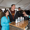 Katie Lessard and Trevor Ferguson try out the Woodstock Inn beers at the 11th Annual New Hampshire BrewFest on the grounds of Cisco Brewers, Pease Tradeport Portsmouth, NH on Saturday 10-12-2019.  Matt Parker Photos