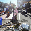 "4 year old Vivian Salzer with her mom Allison of Rye  squashes a ripe pumpkin with the ""Louisville Slugger"" bat at the Annual Pumpkin Smash held in conjunction with the Portsmouth Farmers' Market with all proceeds going to the Portsmouth Halloween Parade at Portsmouth City Hall on Saturday Oct. 2019.  Matt Parker Photos"