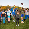 Kids celebrate during a break in a football game at the Third Annual Family Fun Day community event at Stratham Hill Park on Saturday, October 19, 2018.  [Matt Parker/Seacoastonline]