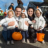 2 year old triplets Sadie, Robby and Stella with parents Amanda and Jon Ludwig at Exeter's annual Halloween Parade on Saturday 10-26-2019 @ Swasey Parkway, Exeter NH.  Matt Parker Photos