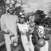 """Newmarket's Sean and Lonie Stebbins with 2 year old Nora and PreK """"Forky"""" Greyson at Exeter's annual Halloween Parade on Saturday 10-26-2019 @ Swasey Parkway, Exeter NH.  Matt Parker Photos"""