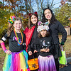 5th graders Olivia Plante (L) with Jasmine Winham and 2nd grader Catalina Winham and mom Vivian at Exeter's annual Halloween Parade on Saturday 10-26-2019 @ Swasey Parkway, Exeter NH.  Matt Parker Photos