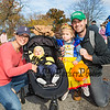 Kyle White (R) with Brittany (L) and 11 month old Alexandra and 2-1/2 year old Evily of Amesbury MA at Exeter's annual Halloween Parade on Saturday 10-26-2019 @ Swasey Parkway, Exeter NH.  Matt Parker Photos