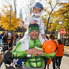 East Kingston's 4 year old Finnegan with dad Brandon French at Exeter's annual Halloween Parade on Saturday 10-26-2019 @ Swasey Parkway, Exeter NH.  Matt Parker Photos