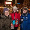 Mary Anne Mooney with her 8th grader Claire and WHS sophmore Ryan at the 2019 Annual Christmas Tree Lighting at the Gazebo at Marelli Square sponsored by the Hampton Parks & Recreation Department on Friday Night 12-6-2019, Hampton, NH.  Matt Parker Photos