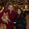 """Eric and Maggie Casola with their dog, """"Delilah"""" a Pomeranian at the 2019 Annual Christmas Tree Lighting at the Gazebo at Marelli Square sponsored by the Hampton Parks & Recreation Department on Friday Night 12-6-2019, Hampton, NH.  Matt Parker Photos"""
