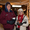 Bob and Linda Reid enjoying the popcorn and Old Salt clam chowder at the 2019 Annual Christmas Tree Lighting at the Gazebo at Marelli Square sponsored by the Hampton Parks & Recreation Department on Friday Night 12-6-2019, Hampton, NH.  Matt Parker Photos