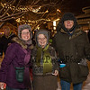 Lori Rybak with her parents Pat and Mike, this was Mike's first time ever eating clam chowder from the Old Salt, at the 2019 Annual Christmas Tree Lighting at the Gazebo at Marelli Square sponsored by the Hampton Parks & Recreation Department on Friday Night 12-6-2019, Hampton, NH.  Matt Parker Photos