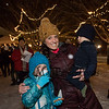 Hampton residents Fawn Whitney with 3rd grader Harper and 1 year old Lincoln at the 2019 Annual Christmas Tree Lighting at the Gazebo at Marelli Square sponsored by the Hampton Parks & Recreation Department on Friday Night 12-6-2019, Hampton, NH.  Matt Parker Photos