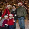 Bobby and Deb Thompson with their daughters Hannah Armstrong (center rear) and Elsie Thompson with grand daughter pre-schooler Olivia Thompson at the 2019 Annual Christmas Tree Lighting at the Gazebo at Marelli Square sponsored by the Hampton Parks & Recreation Department on Friday Night 12-6-2019, Hampton, NH.  Matt Parker Photos
