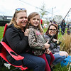 Kindergartener Dani Lamie waiting for some bites on the line with her mom Shaina and grandmother Diane at the 37th Annual Hampton Fishing Derby sponsored by the Hampton Rec Department on Saturday 5-11-2018 @ Batchelder Pond, Hampton, NH.  Matt Parker Photos