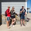 Enjoying ice cream on a sunny Saturday at the Hampton Beach Lifeguard Station on 5-18-2018 @ the Hampton Beach Seashell Stage.  Matt Parker Photos
