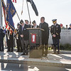 Father Gary Kosmowski of Our Lady of the Miraculous Medal Parish gives the opening prayer during the Memorial Day ceremony at the Hampton Beach Marine Memorial presented by Post 35 of Hampton NH, on Monday 5-27-2019.  Matt Parker Photos