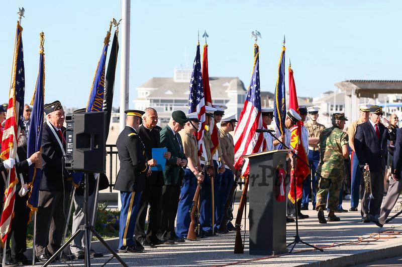 Memorial Day ceremony at the Hampton Beach Marine Memorial presented by Post 35 of Hampton NH, on Monday 5-27-2019.  Matt Parker Photos