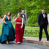 (L to R) Carter McLaughlin, Ella Patterson, Samantha Wilcox and Jacob Outlet on their way to the 2019 Senior Prom and Grand March held on Friday, May 31st at the Atkinson Country Club, Atkinson NH.  Matt Parker Photos