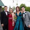 (L to R) Jacob Outlet, Samantha Wilcox, Ella Patterson and Carter McLaughlin pose for a photo on their way to the 2019 Senior Prom and Grand March held on Friday, May 31st at the Atkinson Country Club, Atkinson NH.  [Matt Parker/Seacoastonline]