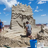 """Ask. Seek. Knock"" by sand sculptor Greg J. Grady of New Hampshire at the 19th Annual Mater Sand Sculpting Classic Competition on Saturday 6-22-2019 at Hampton Beach, NH.  Matt Parker Photos"
