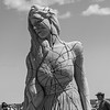 """Breaking Out"" by sand sculptor Mélineige Beauregard of Montreal at the 19th Annual Mater Sand Sculpting Classic Competition on Saturday 6-22-2019 at Hampton Beach, NH.  Matt Parker Photos"