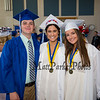 (L to R) Jacob Eichelser, Maggie Farrell and Meghan Abbey getting ready for the entrance march at the Winnacunnet High School Class of 2019 Graduation Ceremony on June 7, 2019, 6:00 PM @ WHS, Hampton, NH.  [Matt Parker/Seacoastonline]