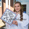 Tess Rodgers shows off her decorrated cap expressing her love for soccer , WHS and her chosen college DSU at the Winnacunnet High School Class of 2019 Graduation Ceremony on June 7, 2019, 6:00 PM @ WHS, Hampton, NH.  [Matt Parker/Seacoastonline]