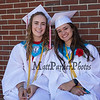 National Honor Society members Sophia Zurlo and Mackenzie Foss at the Wells High School Class of 2019 Graduation Ceremony on June 9, 2019, 1:00 PM, Warrior Field, Wells, ME.  [Matt Parker/Seacoastonline]