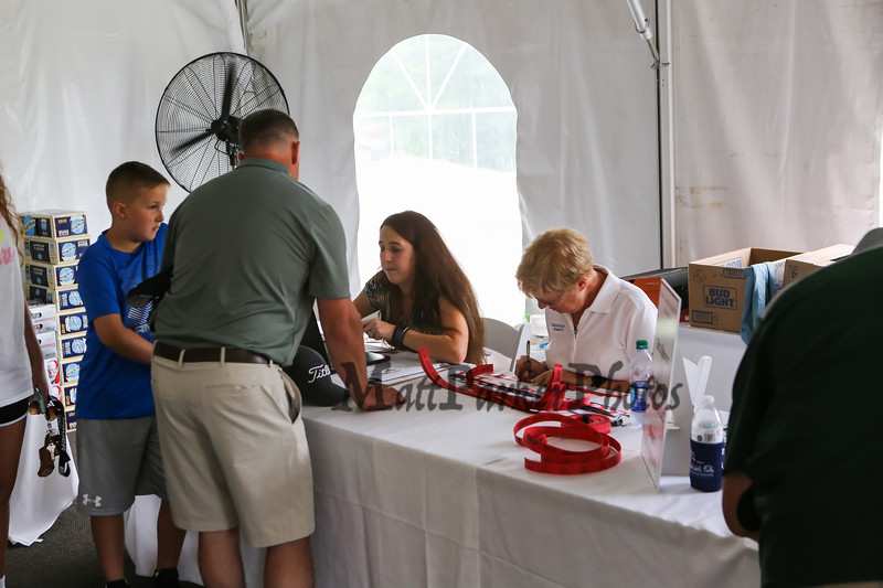 Registration, NH Legends of Hockey 14th Annual Golf Classic held at Stonebridge Country Club on Friday July 12, 2018, Goffstown, NH.  Matt Parker Photos