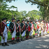 The Militia lines up at the annual 2019 American Independence Festival on Saturday 7-13-2019 @ Exeter, NH.  [Matt Parker/Seacoastonline]