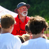 """Former Patriots center 1976-1987 Pete Brock gives instructions to the kids at The New England Patriots NFL Alumni  """"Football For You"""" youth football clinic for kids ages 9-14  in conjunction with the Winnacunnet Warriors Football program on Saturday 7-20-2019 @ WHS.  Matt Parker Photos"""