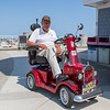 WWII veteran Frank Loopley on his electric car at the 12th Annual Little and Junior Miss Hampton Beach Pageant on Saturday 7-27-2019 @ the Hampton Beach Seashell Stage.  Matt Parker Photos