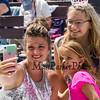 Miss Hampton Beach 2016 Brooke Riley-Torres takes a selfi with 2019 Little Miss Hampton Beach Charlotte DiMeglio and Junior Miss Hampton Beach Marianna McCallum at The 73rd Miss Hampton Beach Pageant on Sunday 7-28-2019 at the Hampton Beach Seashell Stage Hampton Beach NH.  [Matt Parker/Seacoastonline]