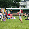 Girls doing flips at the Annual Portsmouth Fireworks celebration on Wednesday 7-3-2019 @ Leary Field, Portsmouth, NH.  Matt Parker Photos
