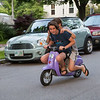 Kids on scooter, Annual Portsmouth Fireworks celebration on Wednesday 7-3-2019 @ Leary Field, Portsmouth, NH.  Matt Parker Photos