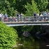 Spectators lining the bridge, New Boston 4th of July parade and celebration on Thursday 7-4-2019 @ New Boston, NH.  Matt Parker Photos