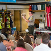 Smokey The Bear with the help from his friends celebrate Smokey's 75th birthday with a party and presentation at the Hampton Falls Fire Department on Tuesday 7-9-2019 @ Hampton Falls, NH.  Matt Parker Photos