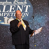 Glen French of the Hampton Beach Village District welcomes the audience and thanks the sponsors of the 2019 15th Annual Hampton Beach Talent Competition Finals on Sunday 8-25-2019 at the Seashell Stage, Hampton Beach, NH.  Matt Parker Photos