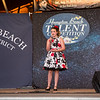 """15 year old Valentina McCarthy of Bridgewater MA takes 1st place in the junior division singing, """"Gimme Gimme"""" at the 2019 15th Annual Hampton Beach Talent Competition Finals on Sunday 8-25-2019 at the Seashell Stage, Hampton Beach, NH.  [Matt Parker/Seacoastonline]"""