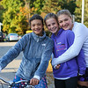 Olivia, Lucy and Olivia pose for a photo, The 27th Annual Eliot Festival Day 5K Road Race and Shipyard Brewery Pumpkinhead Half Marathon on Saturday, September 28, 2019 Eliot Maine.  Matt Parker Photos