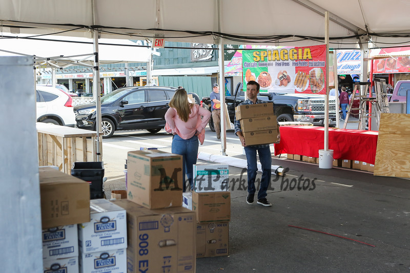 30th Annual Hampton Beach Seafood Festival, setting up the food booths on Thursday 9-5-2019 @ Hampton Beach, NH.  Matt Parker Photos