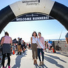 Miss Rockingham County  Xanthi Russell and Miss New Hampshire Sarah Tubbs pose for a photo prior to the start of the inaugural Seafood Fest 5k Road Race at the 30th Annual Hampton Beach Seafood Festival on Sunday 9-8-2019 @ Hampton Beach, NH.  Matt Parker Photos