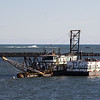 """Sand dredge, """"Scrod II"""", in the mouth of Hampton Harbor as part of the ongoing dredging operations on Wednesday 1-1-2020 @ Hampton Beach.  Matt Parker Photos"""
