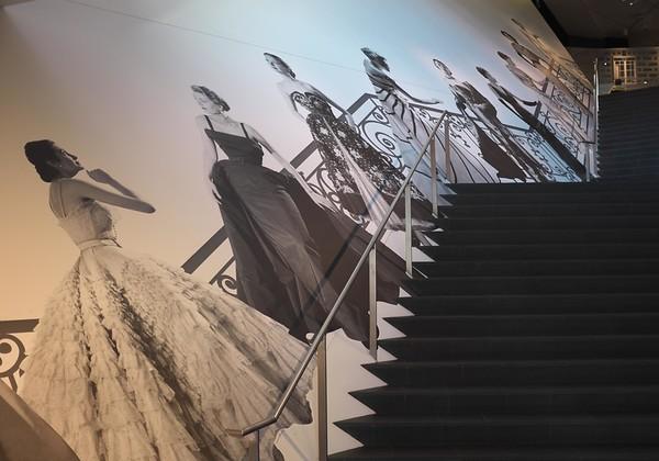 "Staircase ""runway"" entrance to Dior"