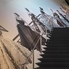 "Staircase ""runway"" entrance to Dior"