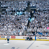 White Out at the 2nd Game of the Playoffs